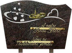 plaque funéraire sablée village