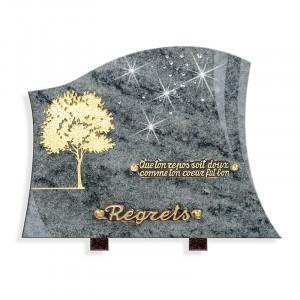 Plaque funéraire Granit Ouest 14411